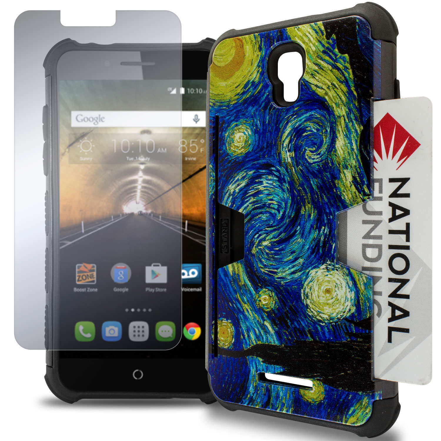 Card design hybrid phone cover case for alcatel one touch