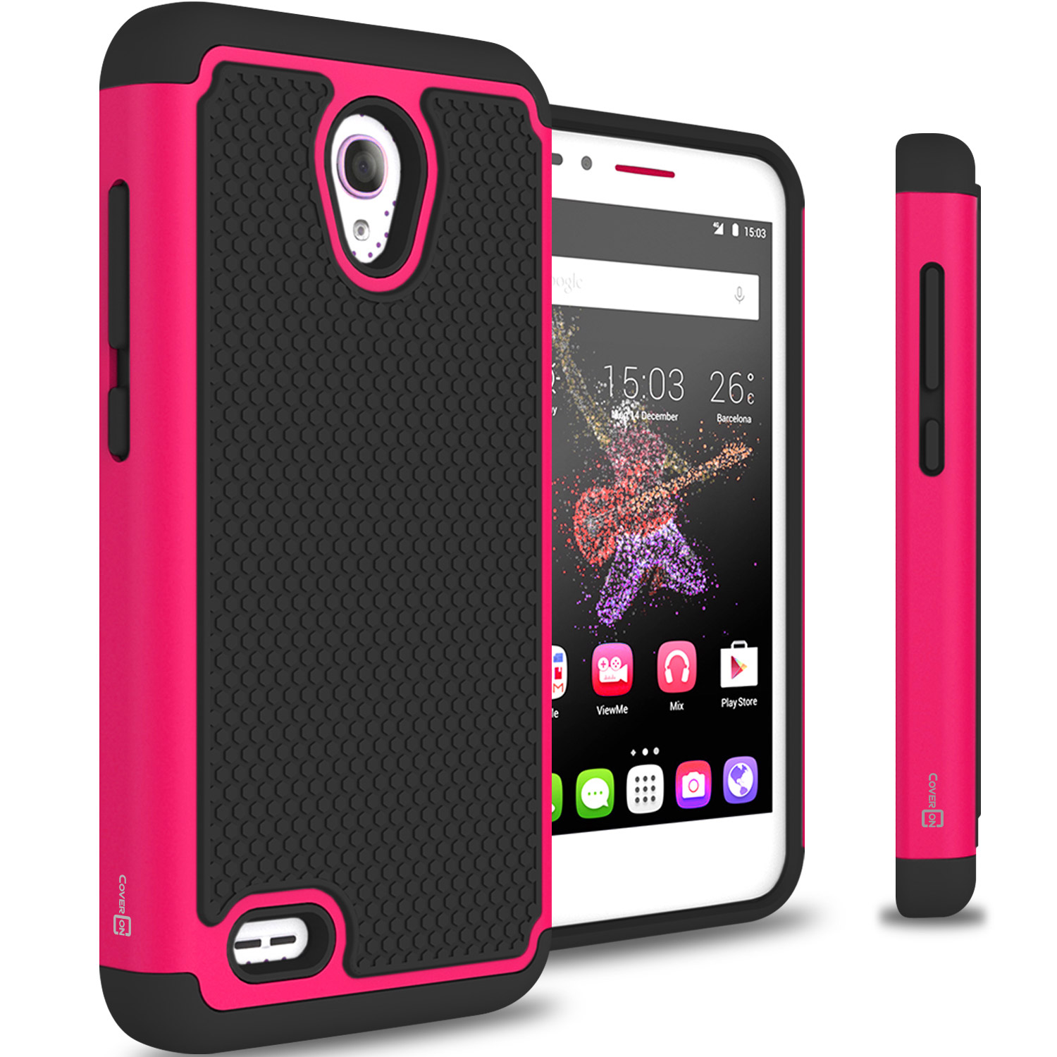 For alcatel one touch go play conquest case tough
