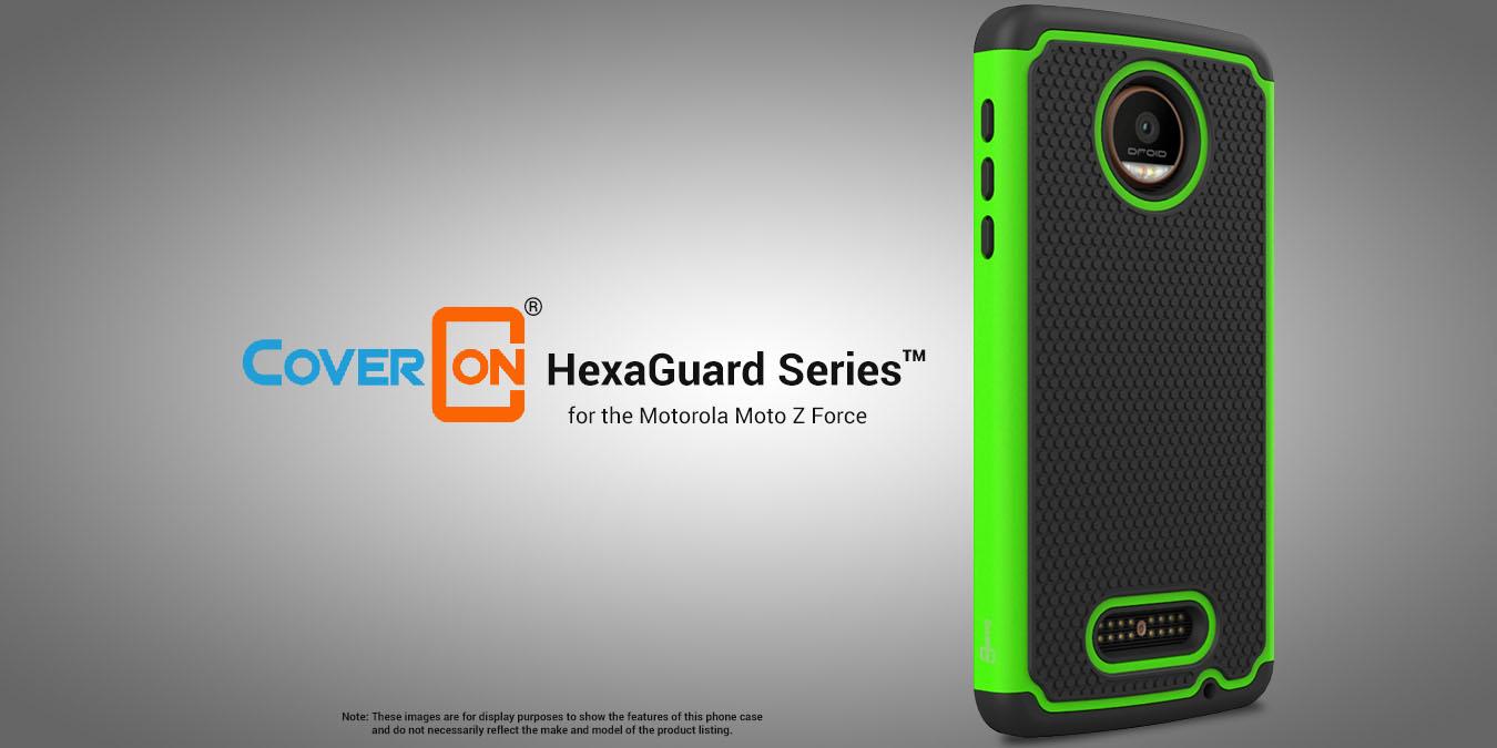 CoverON for Motorola Moto Z Force Droid Case HexaGuard ...