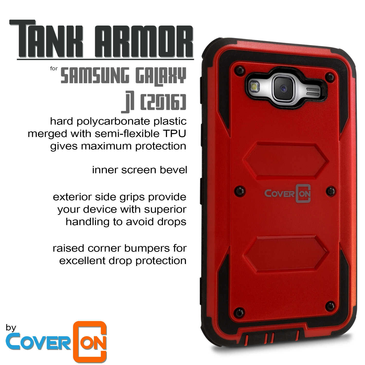 CoverON for Samsung Galaxy J7 (2015) Case [Tank Series] Hard Hybrid ...