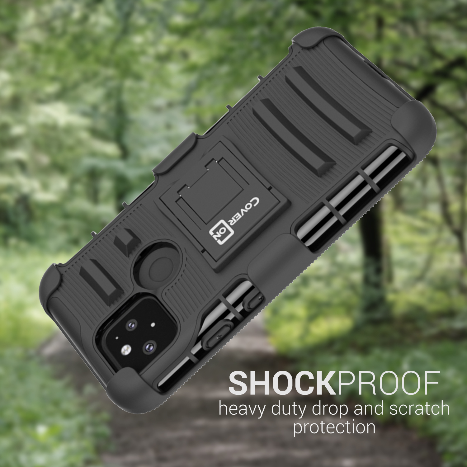Belt Clip Holster Kickstand Phone Cover Case for ZTE Grand ...