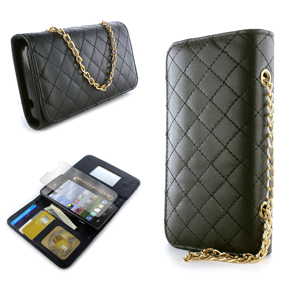 Wallet Pouch Purse Clasp Phone Cover Case With Screen