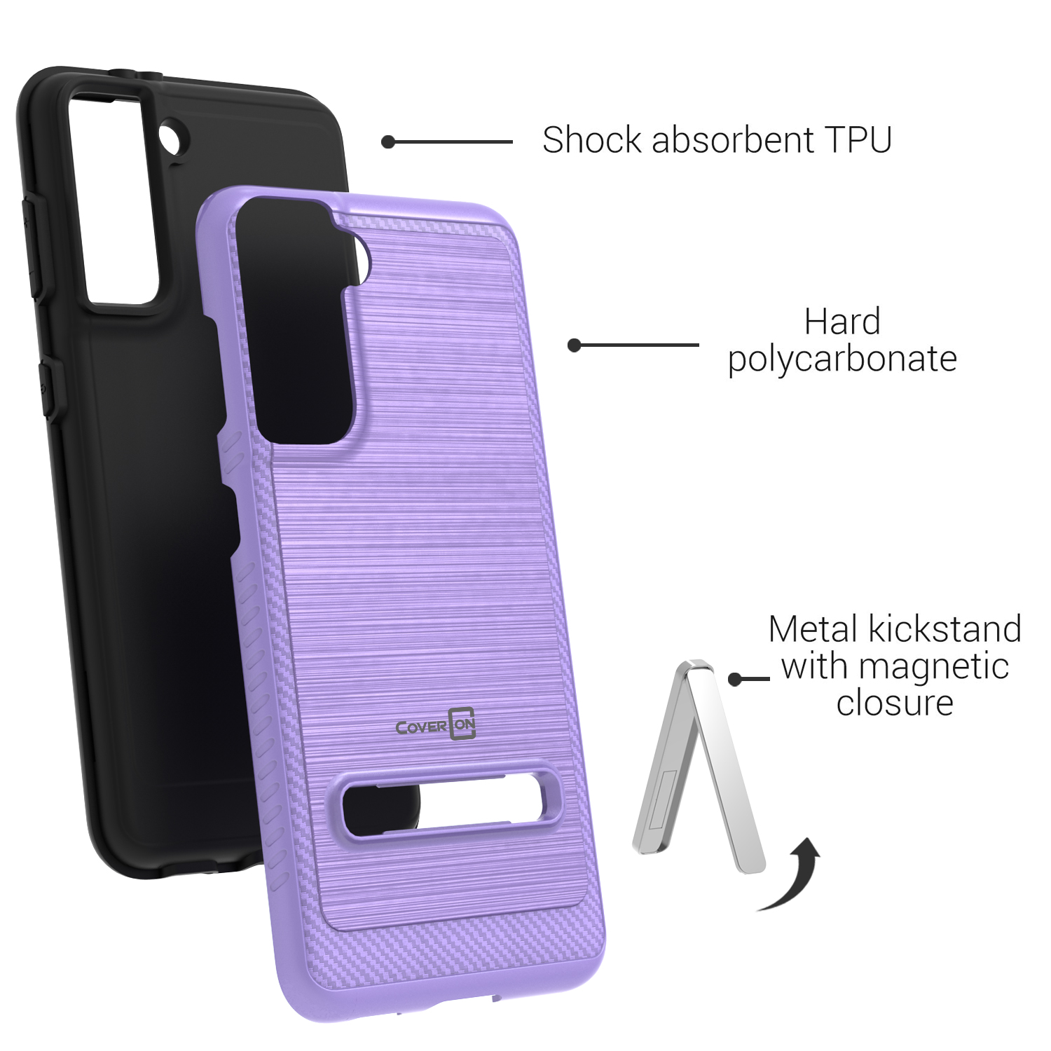 coveron for alcatel one touch evolve 2 hard slim case phone cover ebay. Black Bedroom Furniture Sets. Home Design Ideas