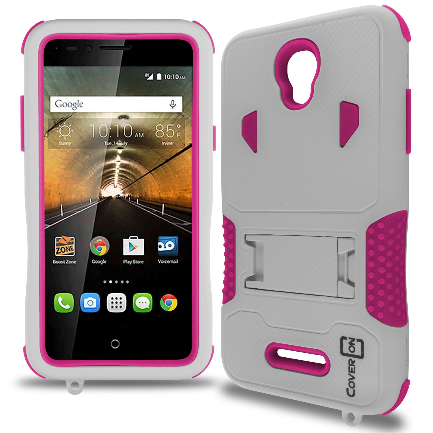 For Alcatel One Touch Elevate Case Tough Kickstand Armor