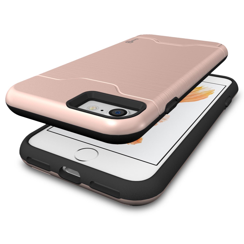 coveron for apple iphone 7 case slim kickstand credit card. Black Bedroom Furniture Sets. Home Design Ideas