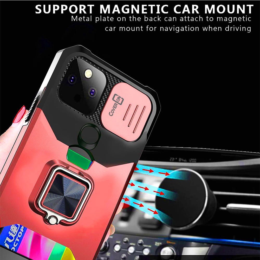 Magnetic Vinyl Flip Credit Card Wallet Case With Screen Cover for ZTE ZMax Phone