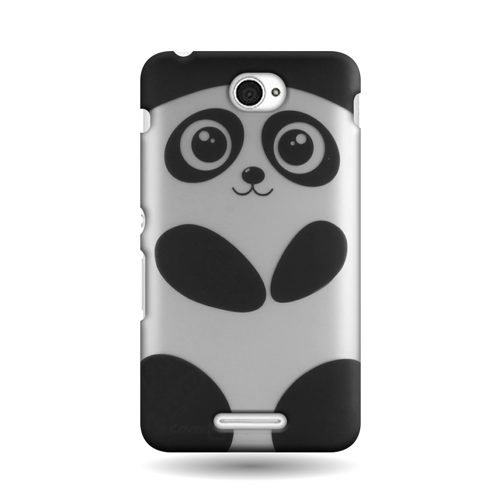 Hard phone case for sony xperia e4 snap on cute panda for Case design