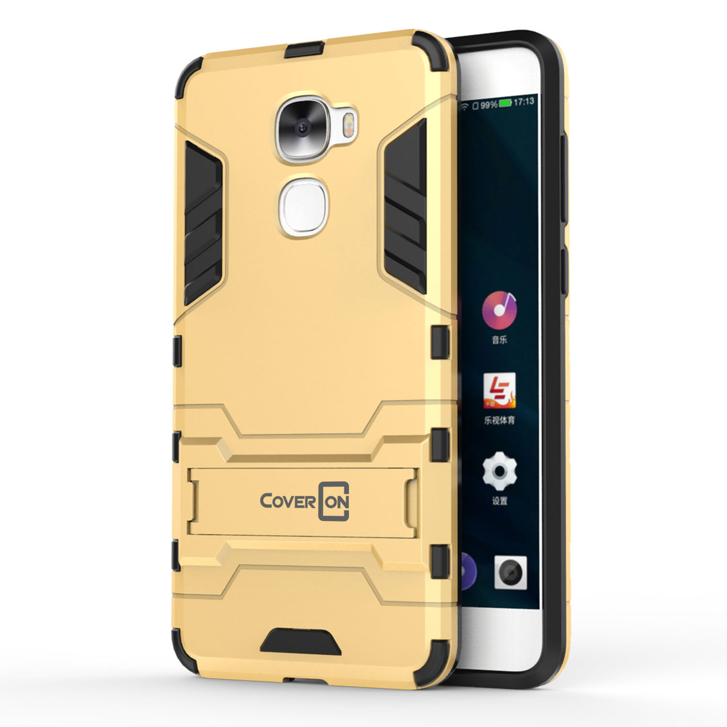 For LeEco Le Pro 3 Hard Case Gold Kickstand Protective Phone Cover ...