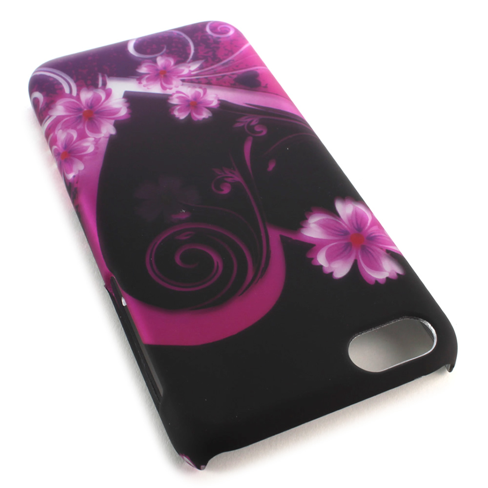 For Apple iPhone 5c Case Purple Love Heart Hard Slim Phone