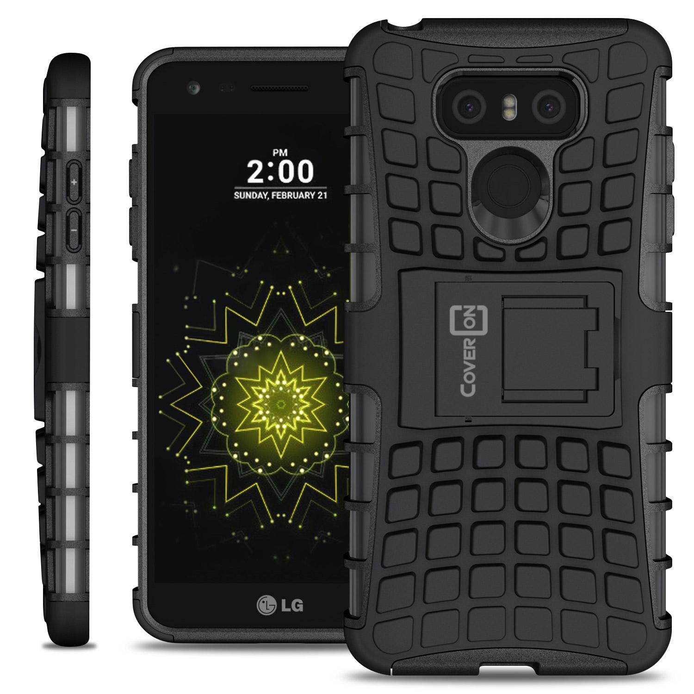 for lg g6 g6 plus case hard protective kickstand shockproof phone cover ebay. Black Bedroom Furniture Sets. Home Design Ideas