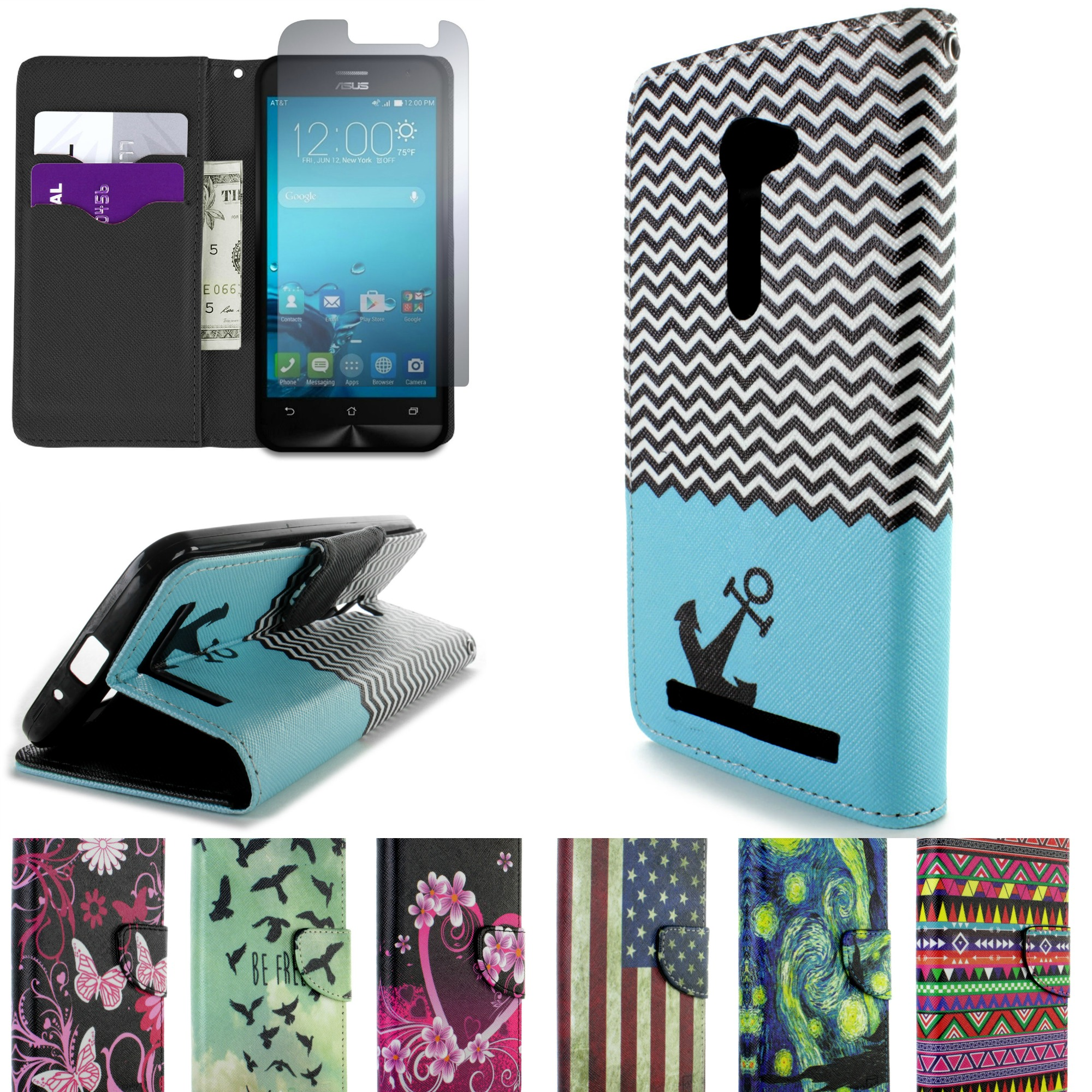 #35839623516648 For Asus Zenfone 2E 5.0 Case Folio Wallet Pouch Design Cover & Scre  Meest recente 2e Hands Design Meubels Friesland 691 pic 20002000691 Ontwerp
