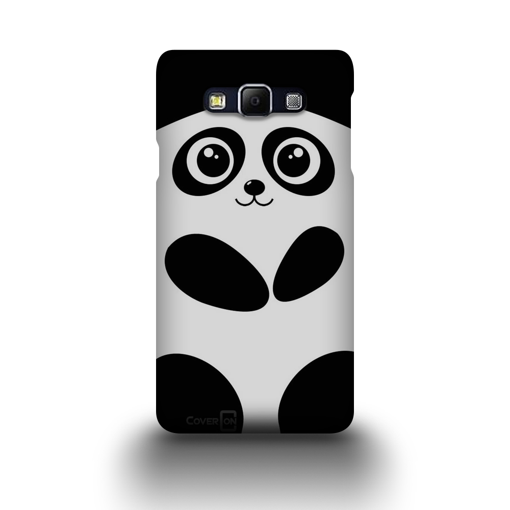 Hard phone case for samsung galaxy a7 black panda design for Case design