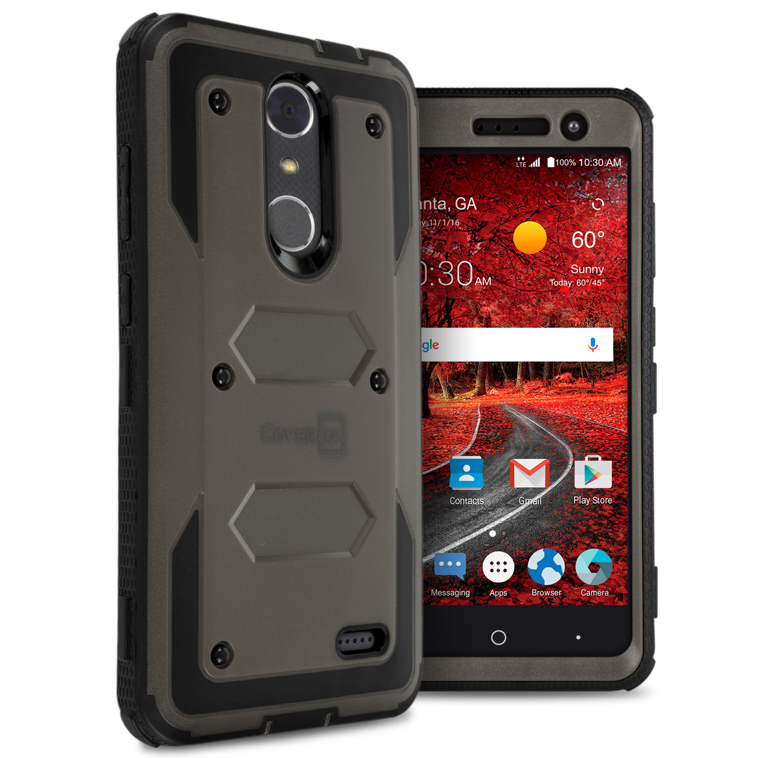 For ZTE Grand X 4 Hard Case Hybrid Phone Tough Cover Shockproof Armor ...