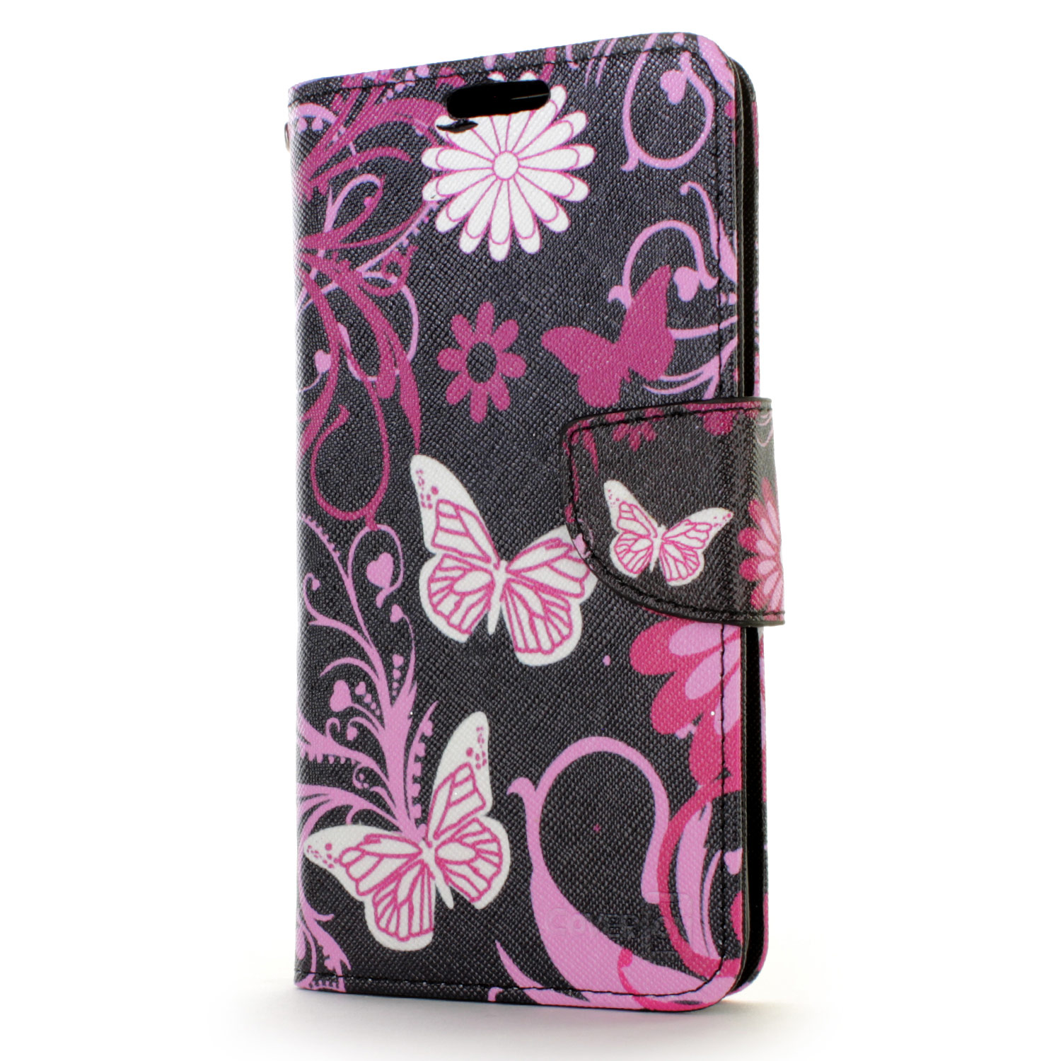 Image Is Loading Pink Erfly Design Wallet Pouch Cover Case For