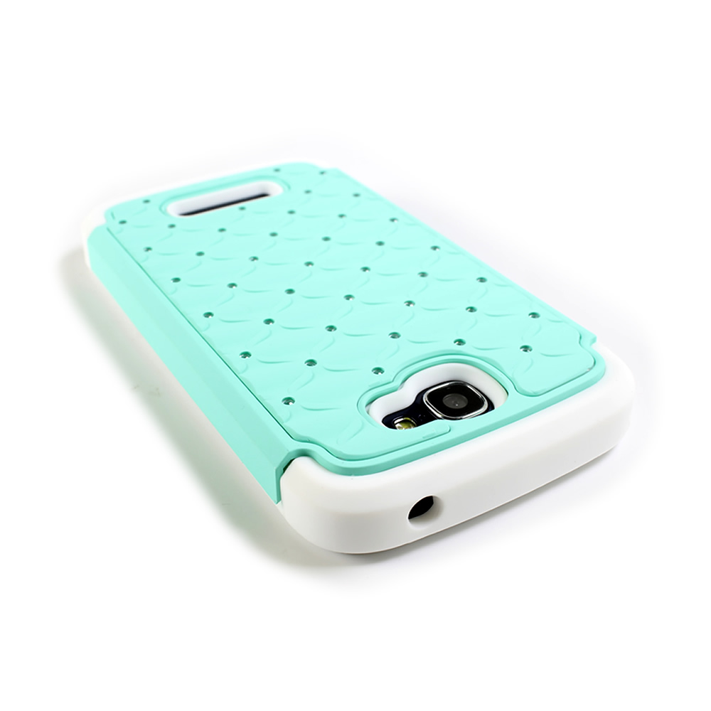 Diamond  Studded Hybrid  Case for ALCATEL  One Touch Fierce 2 (7040T) / Pop Icon