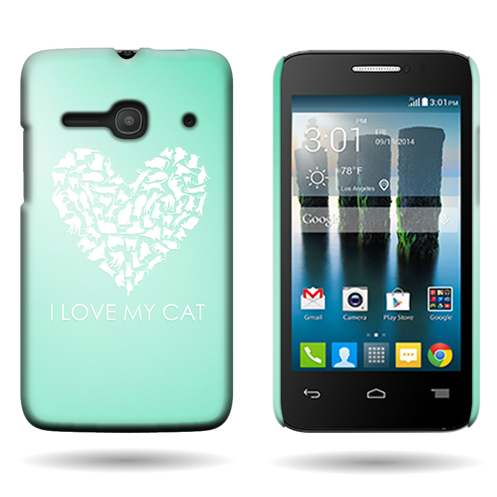 For alcatel one touch evolve t pixi pulsar case hard