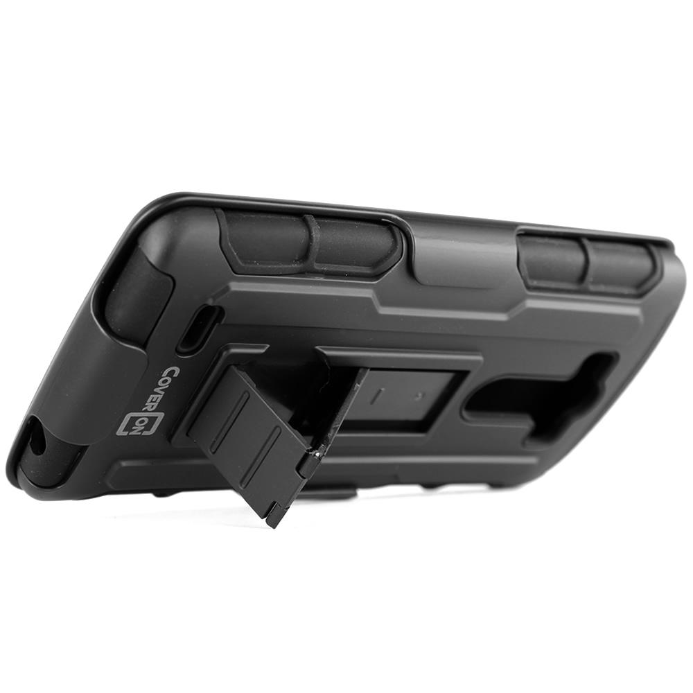Protective Belt Clip Holster Cover Hard Soft Hybrid Stand Case for LG G3 (2014)