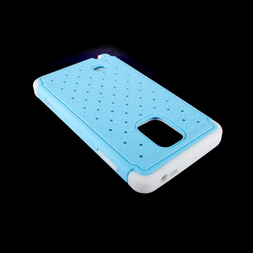 For Samsung Galaxy Note Edge Hybrid Hard + Soft Diamond Studded Bling Cover Case